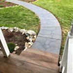 Rustic Concrete Wood Porch Grand Flagstone Sidewalk