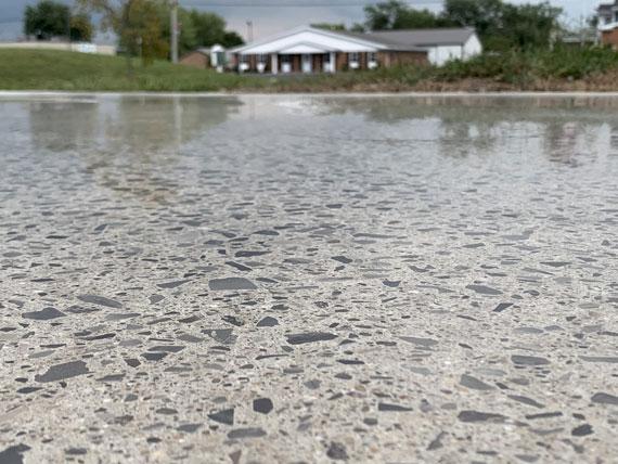 concrete polishing color flakes